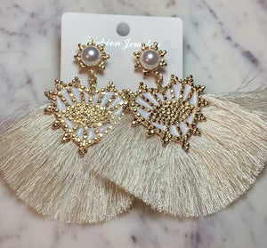 Malia Earrings - Pearl - Shades of Beautii Collection