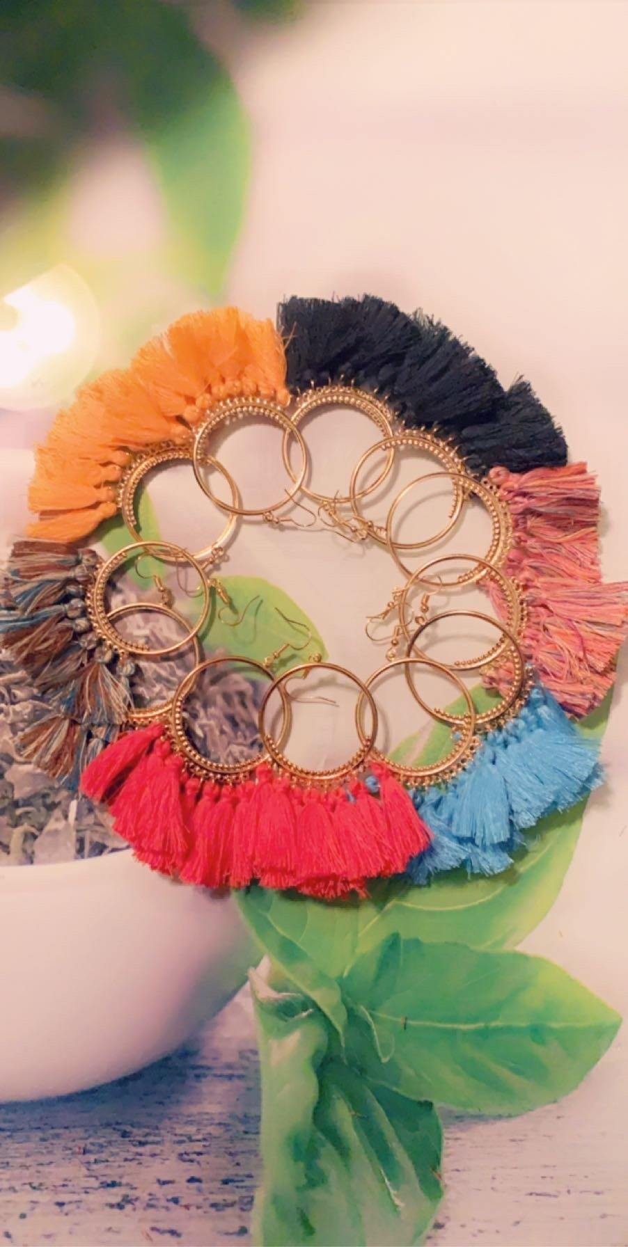 Tassel Earrings - Shades of Beautii Collection