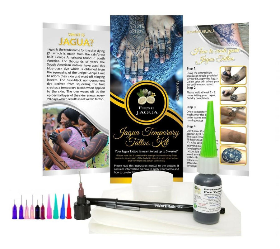 1/2 oz. Jagua tattoo gel combo kit