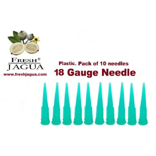 10X 18 Gauge Plastic Applicator Needles (for jagua/Henna ink tattoo gel)