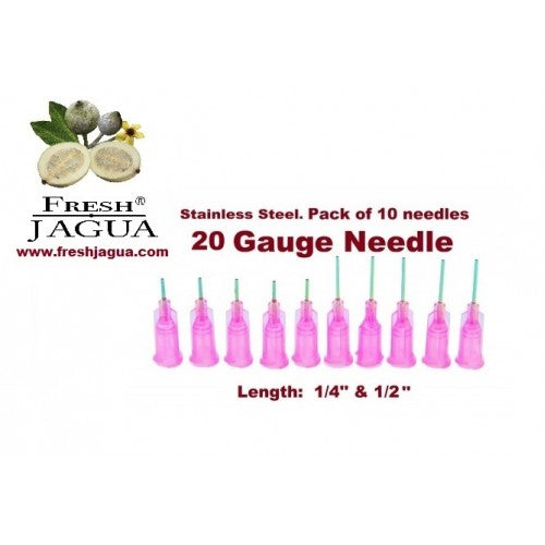 10X 20 Gauge Applicator Needles (for jagua ink tattoo gel)