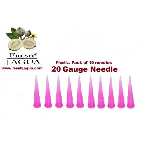 10X 20 Gauge Plastic Applicator Needles (for jagua ink tattoo gel)