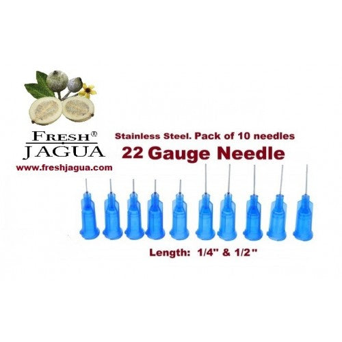 10X 22 Gauge Applicator Needles (for jagua ink tattoo gel)