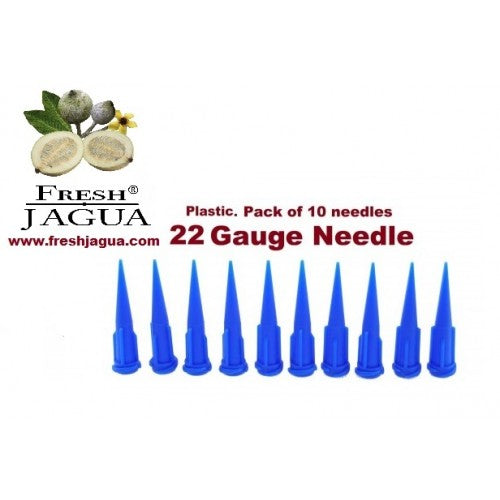 10X 22 Gauge Plastic Applicator Needles (for jagua ink tattoo gel)