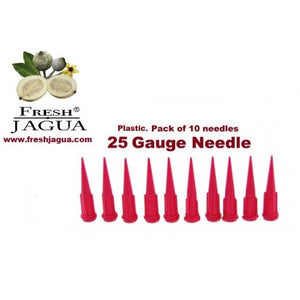 10X 25 Gauge Plastic Applicator Needles (for jagua ink tattoo gel)