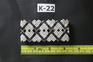 Art# K22  3+ inch Original Kayapo Traditional Peyote stitch Beaded Bracelet from Brazil.