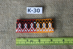 Art# K30  3+ inch Original Kayapo Traditional Peyote stitch Beaded Bracelet from Brazil.