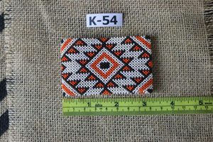 Art# K54  3+ inch Original Kayapo Traditional Peyote stitch Beaded Bracelet from Brazil.