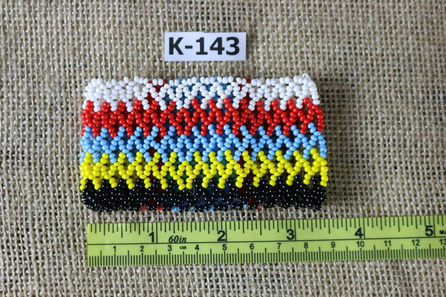 Art# K143 3.5 inch  Original Kayapo Traditional Peyote stitch Beaded Bracelet from Brazil.