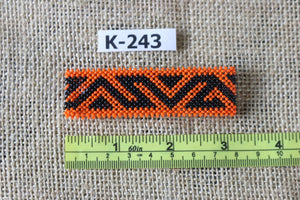 Art# K243  3+ inch. Original Kayapo Traditional Peyote stitch Beaded Bracelet from Brazil.