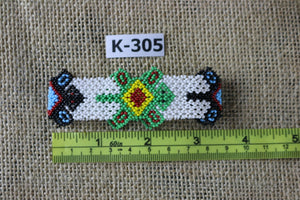 Art# K305  3.5  inch. Original Kayapo Traditional Peyote stitch Beaded Bracelet from Brazil.