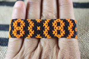 Art# K312  3+ inch. Original Kayapo Traditional Peyote stitch Beaded Bracelet from Brazil.