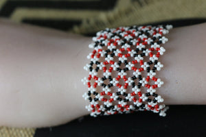 Art# K331  3 inch. Original Kayapo Traditional Peyote stitch Beaded Bracelet from Brazil