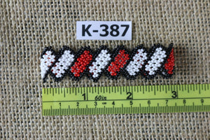 Art# K387  2.5+ inch. Original Kayapo Traditional Peyote stitch Beaded Bracelet from Brazil