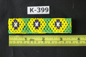 Art# K399  3.5 inch. Original Kayapo Traditional Peyote stitch Beaded Bracelet from Brazil