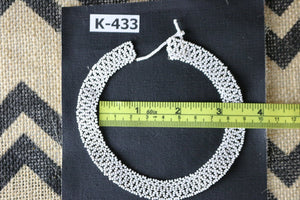 Art# K433  3 inch. Original Kayapo Traditional Peyote stitch Beaded Necklace  from Brazil
