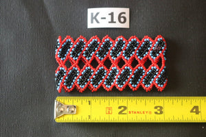 Art# K16 3 inch  Original Kayapo Traditional Peyote stitch Beaded Bracelet from Brazil.