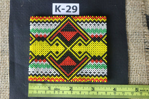 Art# K29 3.5+ inch Original Kayapo Traditional Peyote stitch Beaded Bracelet from Brazil.