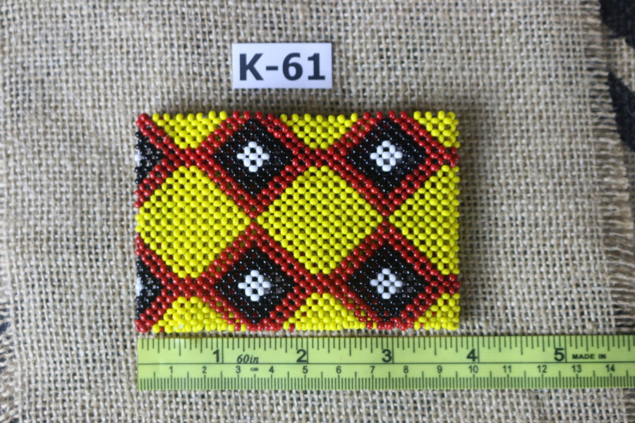 Art# K61  3.5+ inch Original Kayapo Traditional Peyote stitch Beaded Bracelet from Brazil.