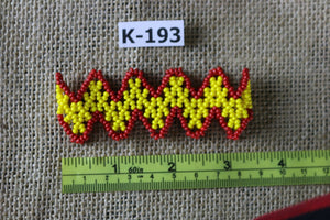 Art# K193  3 inch. Original Kayapo Traditional Peyote stitch Beaded Bracelet from Brazil.