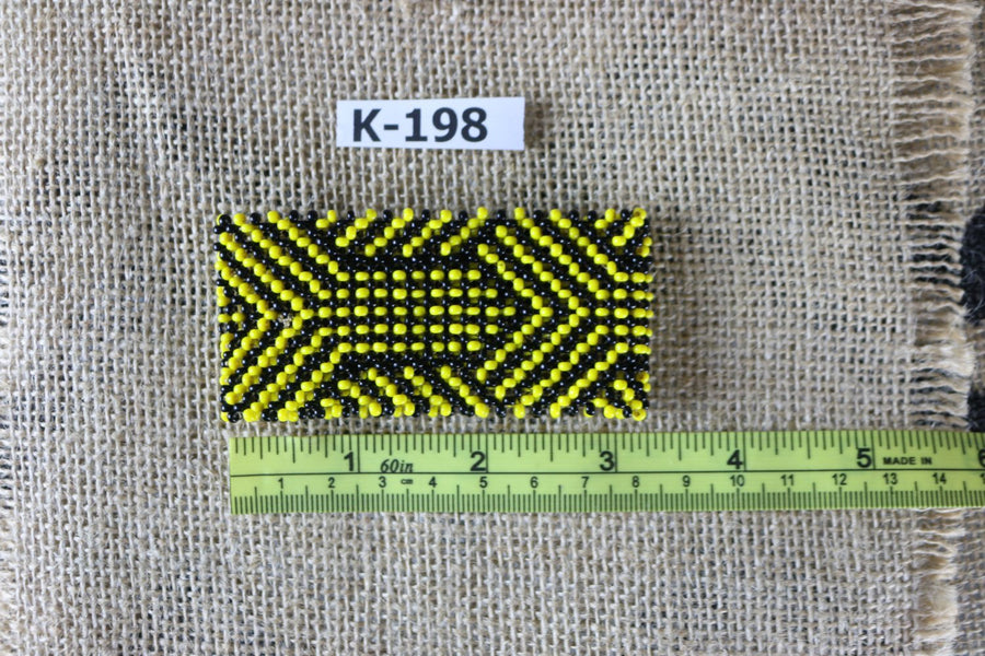 Art# K198  3+ inch. Original Kayapo Traditional Peyote stitch Beaded Bracelet from Brazil.