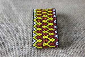 Art# K203  3+inch. Original Kayapo Traditional Peyote stitch Beaded Bracelet from Brazil.