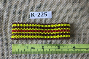Art# K225  3.5+ inch. Original Kayapo Traditional Peyote stitch Beaded Bracelet from Brazil.
