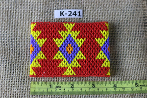 Art# K241  3.5+ inch. Original Kayapo Traditional Peyote stitch Beaded Bracelet from Brazil.