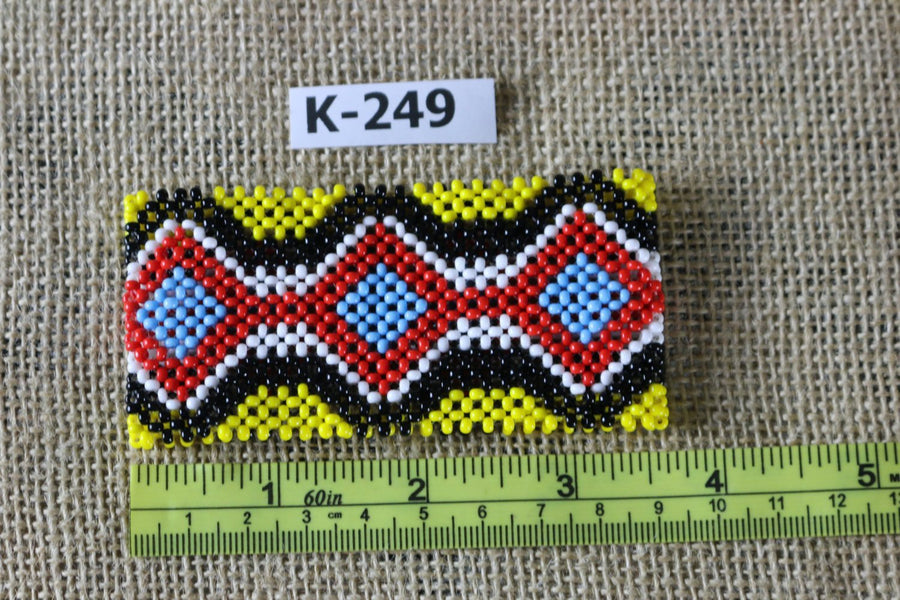 Art# K249  3.5+ inch. Original Kayapo Traditional Peyote stitch Beaded Bracelet from Brazil.