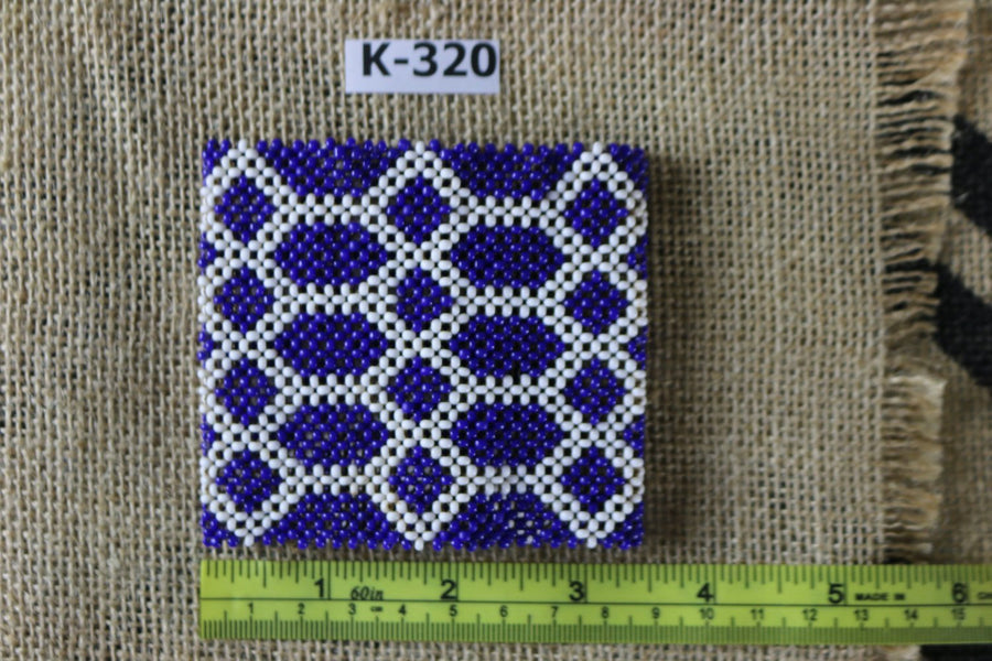 Art# K320  3+ inch. Original Kayapo Traditional Peyote stitch Beaded Bracelet from Brazil