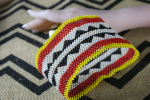 Art# K333  6 inch. Original Kayapo Traditional Peyote stitch Beaded Bracelet from Brazil