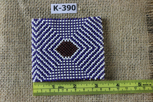 Art# K390  3+ inch. Original Kayapo Traditional Peyote stitch Beaded Bracelet from Brazil