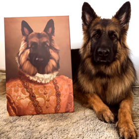 Heiress Custom Pet Portrait - Pet Portraits