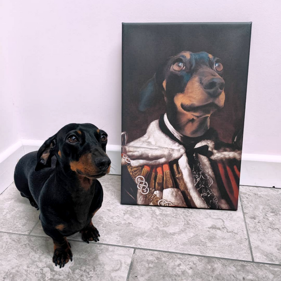 King Custom Pet Portrait - Pet Portraits