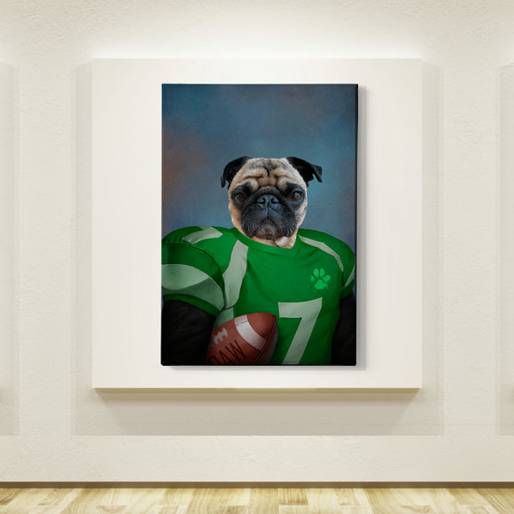 Football Player Custom Pet Portrait - Pet Portraits