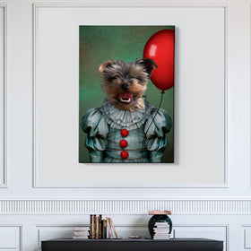 The Clown Custom Pet Portrait - Pet Portraits