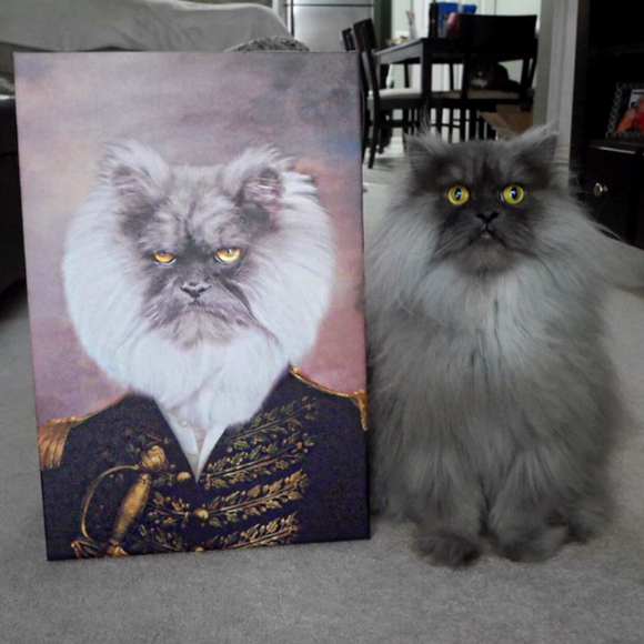 The Admiral Custom Pet Portrait - Pet Portraits