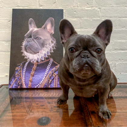 The Socialite Custom Pet Canvas