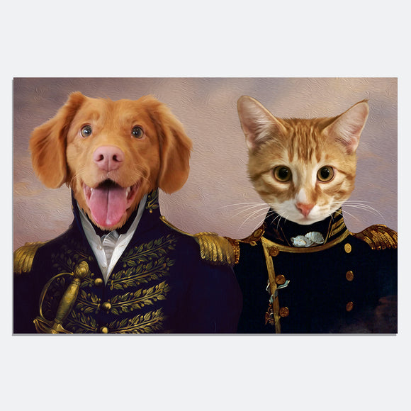The Brothers in Arms 2 Pets in 1 Canvas - Pet Portraits