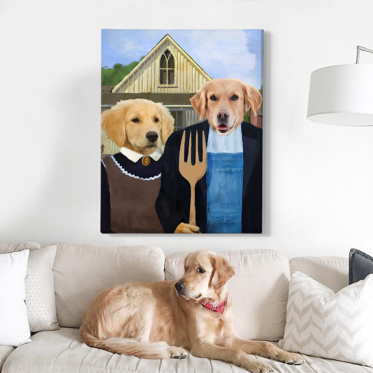 American Paw Custom Two Pets Canvas - Pet Portraits
