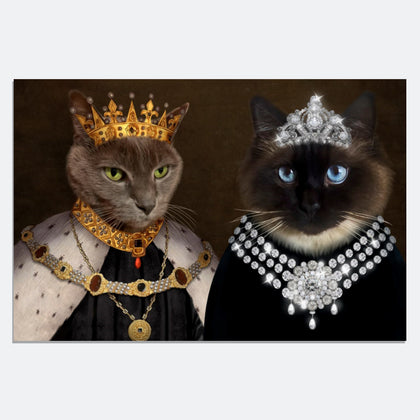 Crowned King & The Lady 2 Pets in 1 Canvas