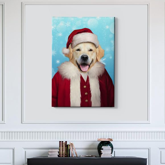 Santa Custom Pet Portrait - Pet Portraits