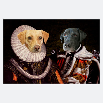 King and Queen 2 Pets in 1 Canvas