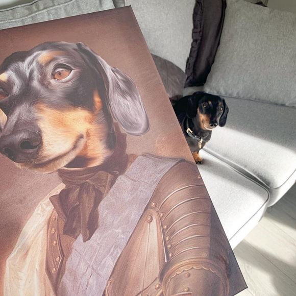 Knight Custom Pet Portrait - Pet Portraits