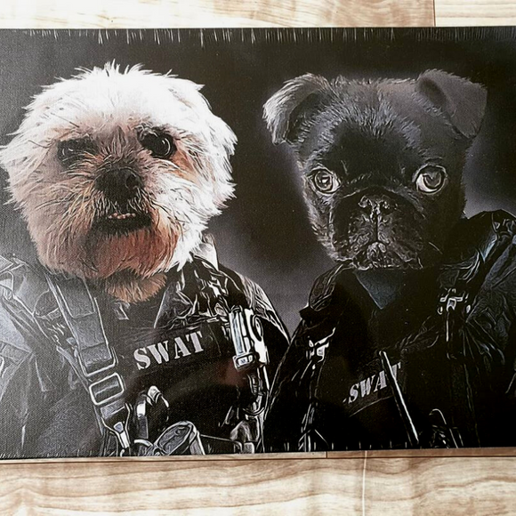 Custom Two Pets Canvas