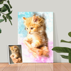 Watercolor Pet Canvas