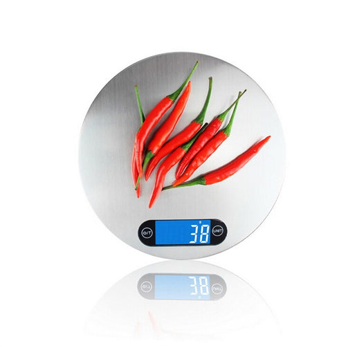 Stainless Steel Electronic Kitchen Scales Weigh Food and Liquid 5Kg