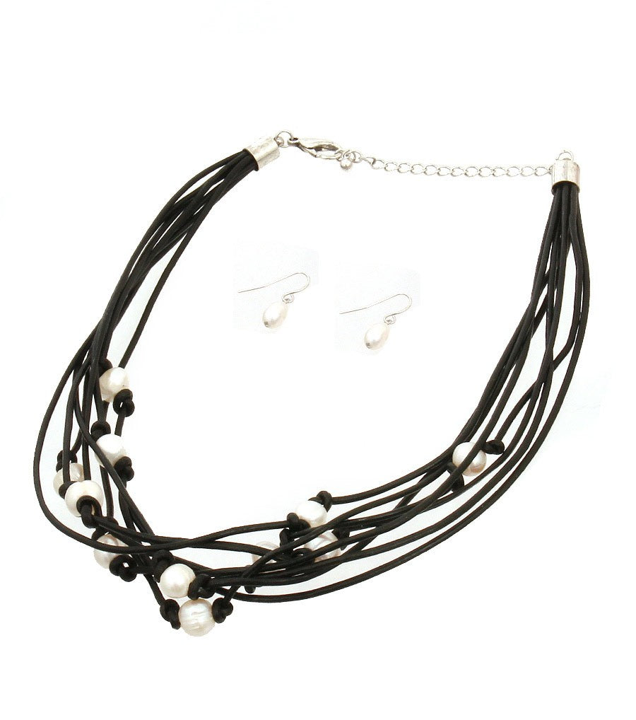 Cord Layered Necklace Set