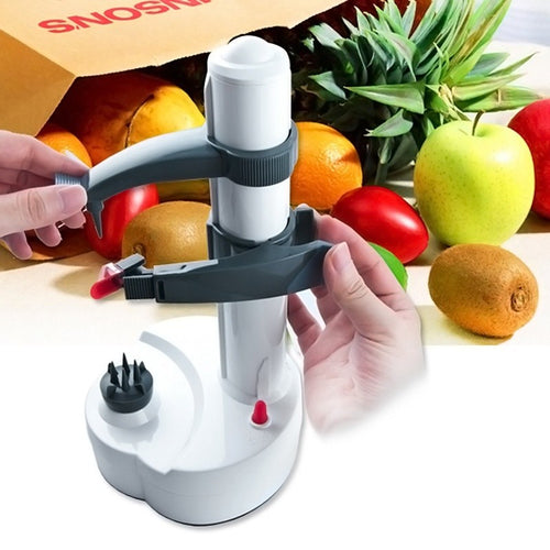 Electric Potato Peeler Automatic Pear Fruit Cutter Slicer Kitchen Utensil