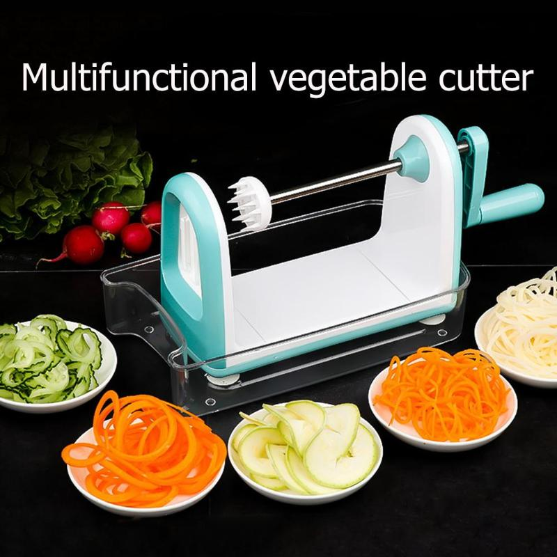 Multifunctional Vegetables Spiral Cutter Potato Carrot Peeler Food Grater Stainless Steel Blade Shredder Kithchen Gadgets